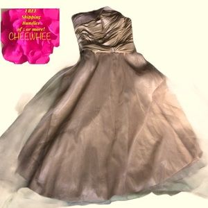 Light in the Box NEW Champagne Strapless Formal 12